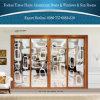 1,6 мм тепловой Break алюминиевые раздвижные двери с оформлением на балконе оформление