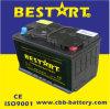 saure 12V 75ah trocknen das Automobilbatterie-Fahrzeug-Leitungskabel belastete Autobatterie 57531