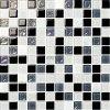 Черный и серый и белый стеклянной мозаики Crystal глянцевой плитки на стене
