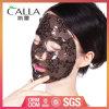 Máscara facial del hidrogel del OEM del cordón natural del negro para el cuidado de piel