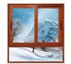 Couleur du bois résidentiel des fenêtres à battants en aluminium