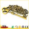 Goldmetallzink-Legierungs-Haustier-Marke und Schlüssel-Form Dogtag für fördernde Geschenke