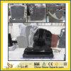 天使の墓碑が付いている黒くまたは灰色または赤か青か緑または紫色または白い花こう岩または大理石または記念物または墓地または庭記念碑(ヨーロッパ人かアメリカ人または中国語または日本かロシアのStytle)