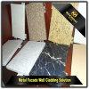 Diseño de aluminio del panel de revestimiento de la pared del grano de piedra de imitación decorativo