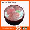 Gommage de corps à la fraise à l'étain rond