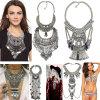 方法型の金属のふさ文のネックレスの宝石類