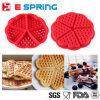 Булочка торта печенья выпечки лотка печи силикона прессформы 5-Cavity Waffle формы сердца варя кухню инструментов