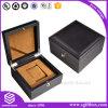 Contenitore di vigilanza di legno su ordinazione del documento di cuoio della stampa di marchio