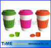 Coffee di ceramica Mug With Silicon Lid e Band (TM2014-GB)
