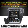 Zestech 10.4インチのアンドロイド7.1 Honda Civic 2012の容量性タッチ画面GPSの運行FM/Am無線のBluetooth WiFi USB SD SWCのための縦スクリーンのマルチメディア