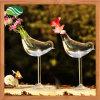Pájaro forma de vidrio jarrón decoración de jardín