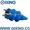Qixing IEC 603 Plastic 16AMP 220-250V Blue Schuko Plug