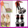2014 sandálias coloridas do salto elevado de sapatas de vestido das senhoras da alta qualidade