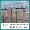 Valla de seguridad alta/ recubierto de PVC 358 cerca del aeropuerto con alambre de púas de afeitar