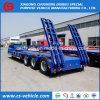 Acoplado resistente del árbol 60t 100t Lowbed de la venta de la fábrica 3 semi con las rampas mecánicas