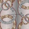 100%Polyester de Afgedrukte Stof van het embleem Pigment&Disperse voor de Reeks van het Beddegoed