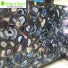 Lastra di marmo naturale agata blu irregolare differente di figura della bella