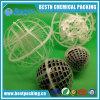 A esfera plástica da gaiola aplica-se no tratamento da água Waste