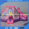 Rosafarbenes aufblasbares Schloss mit Plättchen-federnd kombinierten Spielen