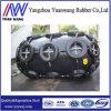 Defensa de goma neumática marina con el encadenamiento galvanizado y neumático hecho en China