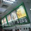 Montado na parede da estrutura de Poster Caixa de luz com visor LED Board