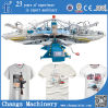 Yh Series Custom Automatic Rotary T-Shirt Silk Screen Printing Machines su Fabric da vendere