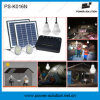 kit solar de 8W África con 4 bulbos de 2watt LED