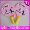 2015 Wooden promozionale Beach Racket Bat con Ball, Wooden Beach Paddle Ball, Beach Game Toy Wooden Beach Racket con Ball W01A101