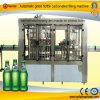 ガラスビンのソーダ飲料の自動充填機