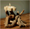 Cadeaux créatifs pastorale bougie Fleurs Décoration Design bois mou de l'artisanat des ornements