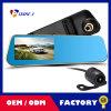 4.3 '' Full HD 1080P Dual Lens Review Gravador de espelho Auto Dash Cam Câmera digital Câmera do carro