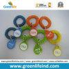 Indicateur de clé de poignet de nombre en spirale en plastique coloré d'enroulement