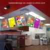 Carte du menu du restaurant pour la restauration rapide Kisok