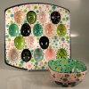 Placa cerâmica colorida do ovo