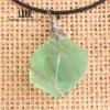 Естественные сырцовые шкентели камня фторита с ожерельем веревочки воска