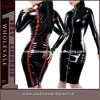 Long costume en cuir de fantaisie sexy d'usager de robes de douilles (TP747)