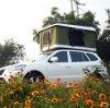 Einfaches geöffnetes im Freien kampierendes Auto-Spitzenzelt