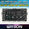 Witson Car DVD pour Galaxy 2011-2012 Car DVD GPS 1080P DSP Capactive Screen WiFi 3G Front DVR Camera