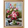 Pintura al óleo al por mayor de la decoración de la alta calidad, pintura al óleo excelente de la flor para la decoración casera, decoración del hotel