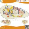Structure en acier de plein air de l'escalade avec toboggan pour les enfants HX1503U