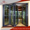 Алюминиевая внешняя нутряная двойная стеклянная Bi-Складывая дверь