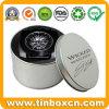 Изготовленный на заказ круглая серебряная коробка подарка металла аргументы за олова вахты