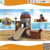 Bateau de pirates en plastique de l'équipement de terrain de jeux pour enfants avec piscine à balles