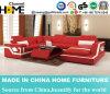 Sofá moderno de la combinación con el respaldo ajustable, cuero rojo (HC1074)