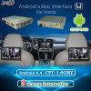 Car HD Interface Android Système GPS Navigation avec Mirrorlink / DVD / Bt pour 13-16 Honda Odyssey / Hrv / Xrv (Driving à gauche)