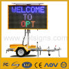 Ce En 12966 LED Affichage Vms Ambre Couleur Variable Message Sign Solar Powered Mobile LED Vms Sign Board Trailer