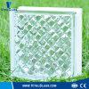 Het duidelijke Blok van het Glas van het Patroon Gemel voor Decoratie