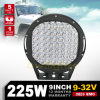 가장 새로운 도착! ! 9  SUV ATV 9 Inch 225W LED Driving Lights를 위한 225W LED Driving Light Round 4X4 Auto Parts Car Accessories Used