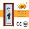 Portes rouges d'alliage d'aluminium de qualité de noix (SC-AAD010)