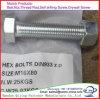 Boulons Hex galvanisés et noix d'IMMERSION chaude d'acier du carbone de la pente de DIN603 DIN933 4.8 à 8.8